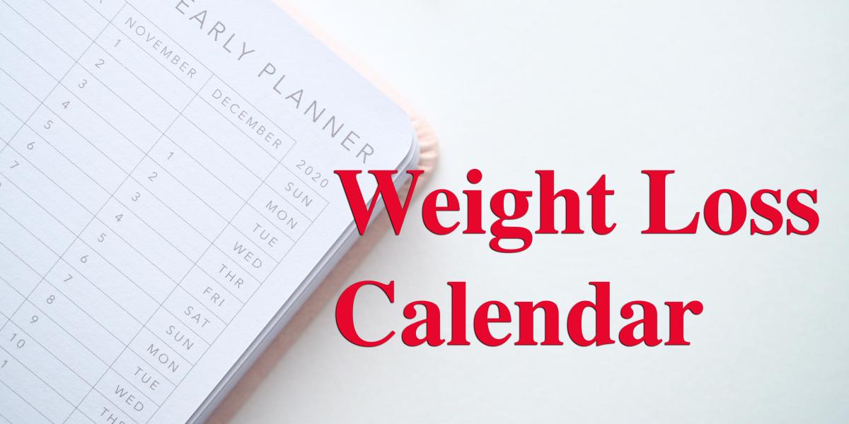 Daily Weight Loss Calendar