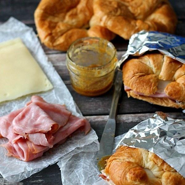 Hot Ham & Swiss Croissants