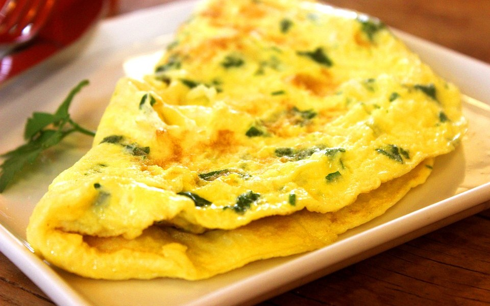 Dairy-Free Spinach and Cheese Omelette